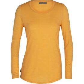 Icebreaker Sphere LS Low Crew Shirt Women, amarillo